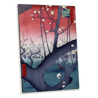 Hiroshige 'Prune Orchard Sun' Gallery Wrapped Canvas Wall Art