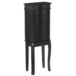 Linon Mary Jewelry Armoire - Black