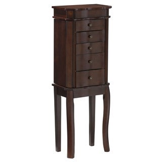 Linon Mary Jewelry Armoire - Walnut
