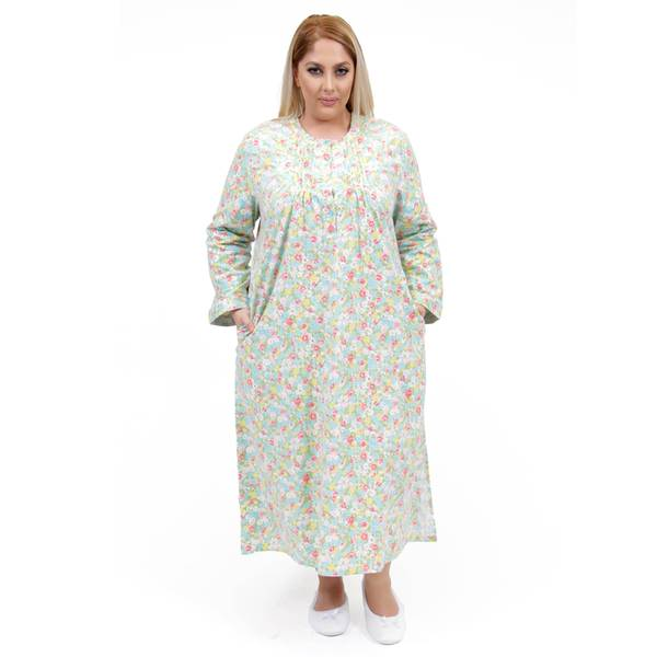 Shop La Cera Women\'s Plus Size Long-Sleeve Flannel Gown - Free ...