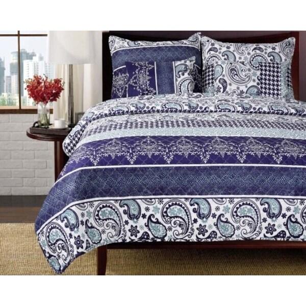 Flora Paisley Queen-size 3-piece Quilt Set