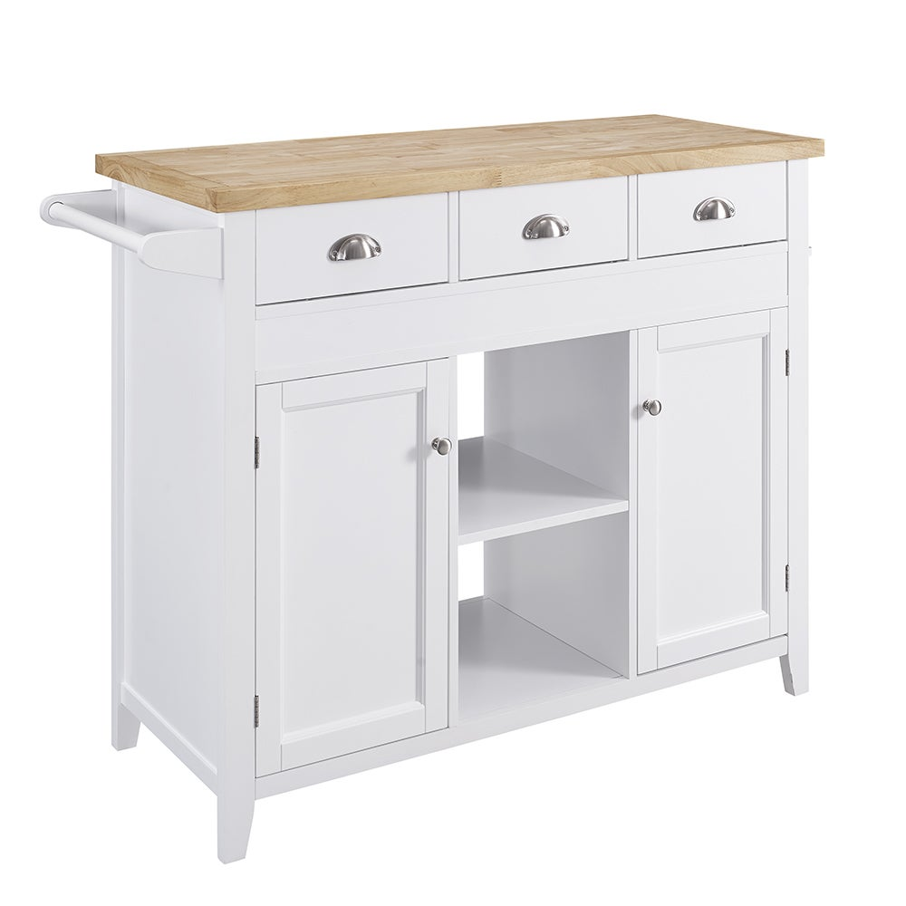 Shop Linon Kelsey Kitchen Cart - Free Shipping On Orders Over $45 ...