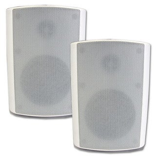 Theater Solutions TS425ODW Indoor/ Outdoor Weatherproof HD Mountable White Speaker Pair