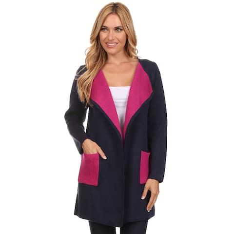 High Secret Women's Color Block Cardigan