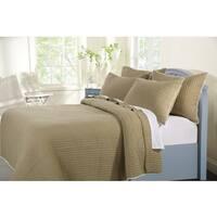 Greenland Home Fashions  Pom Pom Sand Cotton 3-piece Quilt Set