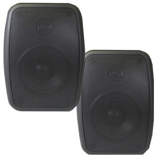 Theater Solutions TS4ODB Indoor/ Outdoor Weatherproof HD Mountable Black Speaker Pair