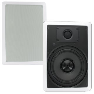 Theater Solutions TS80W In Wall 8-inch Surround Sound Home Theater Rectangular Kevlar Speaker Pair