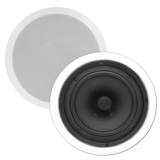 Theater Solutions TS80C In Ceiling 8-inch Surround Sound Home Theater Round Kevlar Speaker Pair