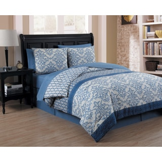 Avondale Manor Corsica Damask Print 8-piece Bed-in-a-Bag with Sheet Set