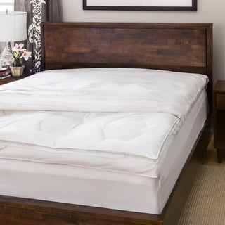 Luxury Natural Down on Top Featherbed with Cotton Cover Set Full Size(As Is Item)