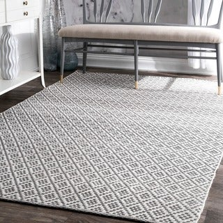 Link to nuLOOM Handmade Flatweave Geometric Cotton Area Rug Similar Items in Rugs