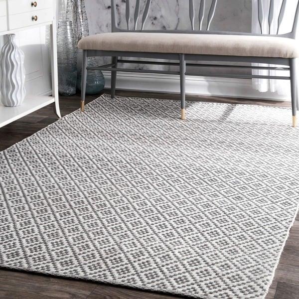 Shop NuLOOM Handmade Flatweave Moroccan Trellis Grey