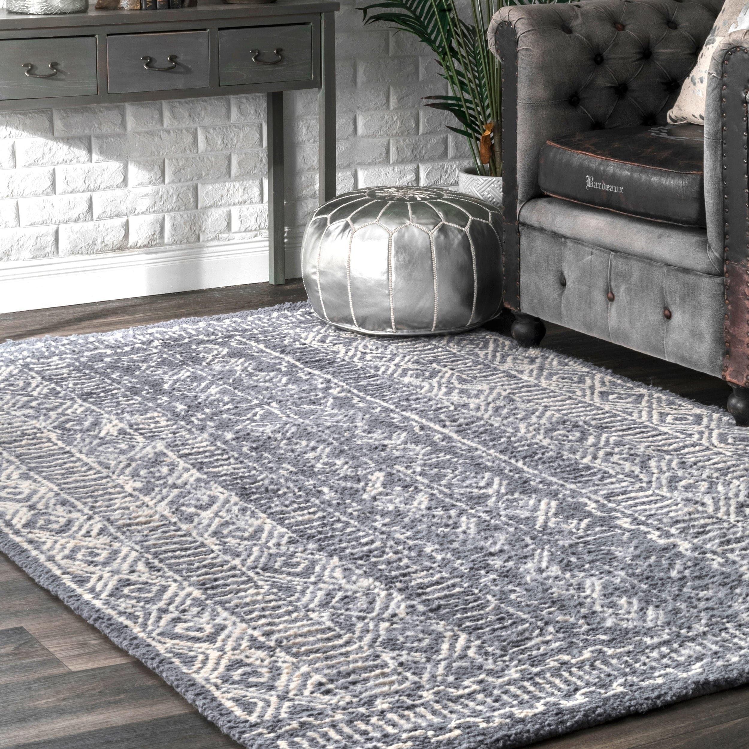 Nuloom Handmade Diamond Ridge New Zealand Indian Wool Area Rug