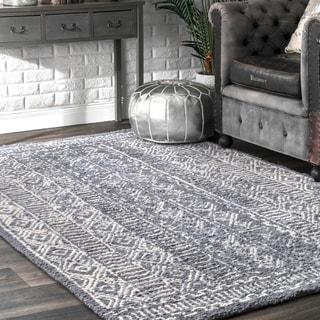 Link to nuLOOM Handmade Diamond Ridge New Zealand Wool Area Rug Similar Items in Transitional Rugs