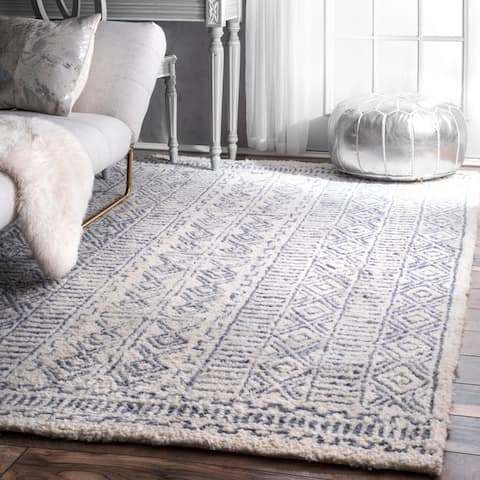 nuLOOM Handmade Diamond Ridge New Zealand Wool Area Rug