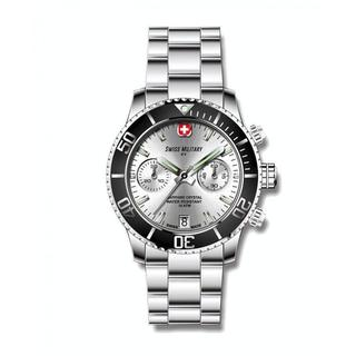 Swiss Military by R 09502 3N A Alpha Men's Chronograph Silver Dial Watch with pocket military knife