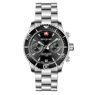 Swiss Military by R 09502 3N N Alpha Men's Chronograph Black Dial Watch with pocket military knife