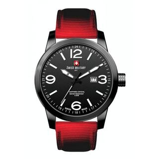 Swiss Military by R 50504 37N N Sniper Men's Red Nylon Strap Black Dial Watch with pocket military knife