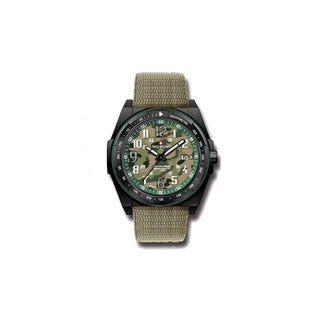 Swiss Military by R 50505 37N V Commando Green Camo Dial Watch with pocket military knife