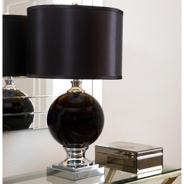 Abbyson Black Glass 27.5-inch Table Lamp