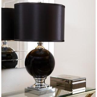 Abbyson Black Glass Table Lamp