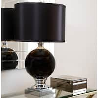 Abbyson Black Glass Table Lamp