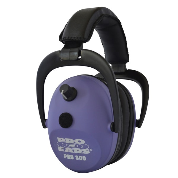Pro Ears Pro 300 Electronic Hearing Protection and Amplification Purple NRR 26 Ear Muffs