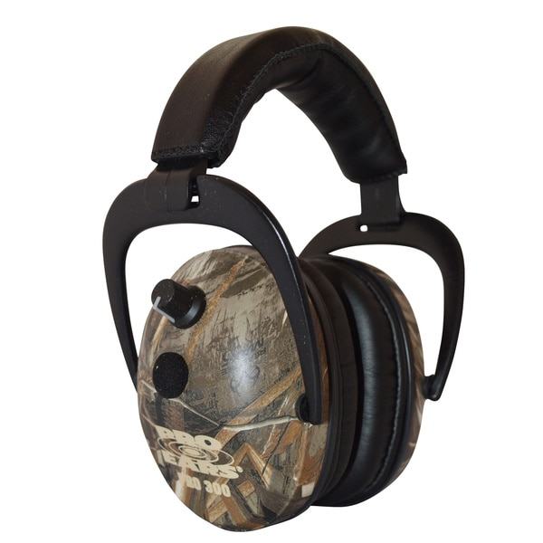 Pro Ears - Pro 300 - Electronic Hearing Protection and Amplification Max 5 Camo NRR 26 Ear Muffs