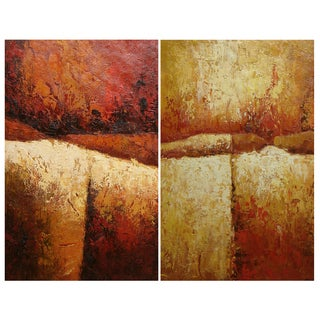 'Abstract Set' 24x32 Modern Original Oil Painting Canvas Wall Art