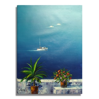 'Vivid Seascape' 29x41 Realistic Original Oil Painting Canvas Wall Art