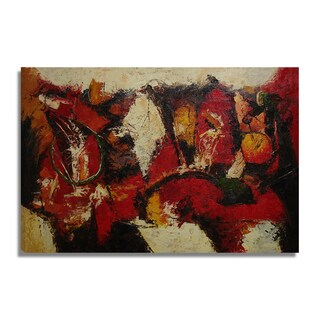'Modern Abstract' 24x36 Original Abstract Modern Oil Painting Canvas Wall Art