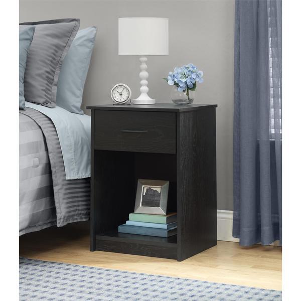 Ameriwood Home Core Black Ebony Ash Nightstand