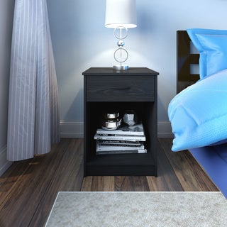Porch & Den Wicker Park Concord Black Ebony Ash Nightstand
