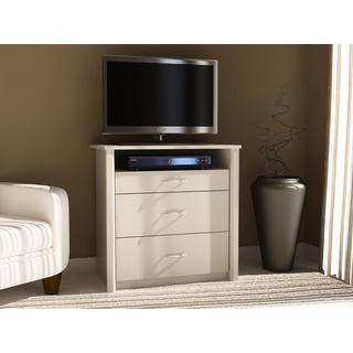 Altra White Media Dresser TV Stand with 3 Drawers