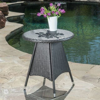 Corsica Outdoor Wicker Round Dining Table (ONLY) by Christopher Knight Home