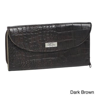 Buxton Faux Croco Checkbook Wallet