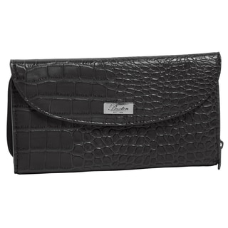 Buxton Faux Croco Checkbook Wallet
