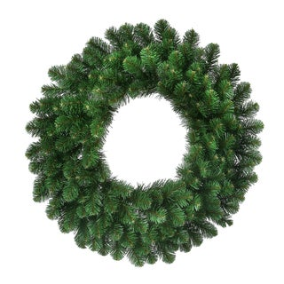 "30"" Deluxe Faux Oregon Fir Pre-Lit Wreath"