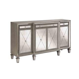 Erica Four Door, Three Drawer Sideboard - Silver