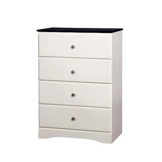 Furniture of America Piers Two-tone Blue/White 4-drawer Youth Chest