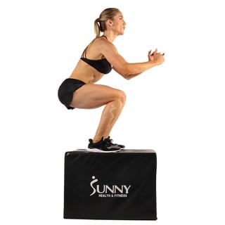 Sunny Health & Fitness No. 072 3-in-1 Foam Plyo Box - Black