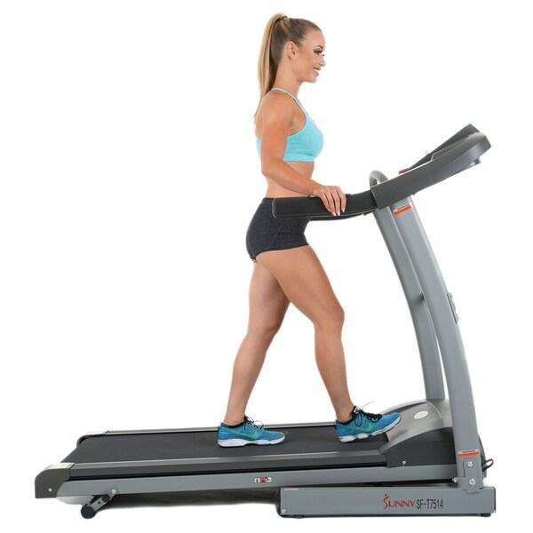 Sunny Health & Fitness SF-T7514 Heavy Duty Walking Treadmill - Silver