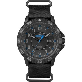 Timex Men's Expedition Gallatin Black Nylon Slip-Thru Strap Watch