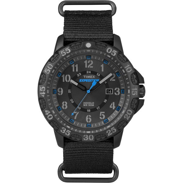Timex Men's Expedition Gallatin Black Nylon Slip-Thru Strap Watch