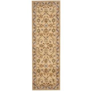 Herat Oriental Indo Hand-tufted Mahal Wool Runner (2'7 x 8') - 2'7 x 8'