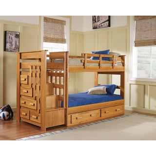Woodcrest Heartland 5-drawer Stairway Bunk Bed