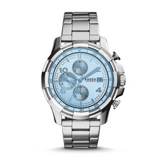 Fossil Men's FS5155 Dean Chronograph Silver Dial Stainless Steel Bracelet Watch