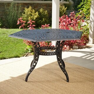 Outdoor Cayman Hexagon Cast Aluminum Bronze Dining Table (ONLY) by Christopher Knight Home
