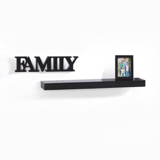 Melannco Black 'Family' Photo Wall Shelf