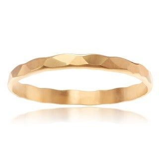 Journee Collection 14K Goldplated Sterling Silver 2 MM Hammered Band